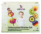 CREARTEC - Colouraplast Starter-Set - verblüffende Schmelztechnik für Groß und Klein - zum Kennenlernen der verblüffenden Schmelztechnik - Made in Germany