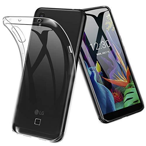 TOPACE Hülle für LG K20 (2019), Ultra Schlank R&umschutz Softschale Silikon TPU Stoßfest Handyhülle Schutzhülle Anti-Fingerabdruck Shock Absorption Tasche Cover für LG K20 (2019) (Matte)