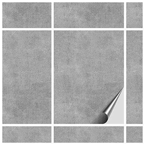 FoLIESEN Fliesenaufkleber 15x20 cm - Fliesen-Folie Bad - Klebefolie Küche - 30 Klebefliesen, Dekor Greydi