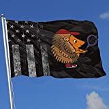 Zudrold Banderas al Aire Libre Erizo Lindo Que Juega la Bandera del Tenis para el Aficionado a los Deportes Fútbol Baloncesto Béisbol Hockey