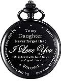 Regalo de Hija Reloj de Bolsillo Reloj de Steampunk con Patrón Personalizado Regalo desde Padre Madre para Cumpleaños Navidad