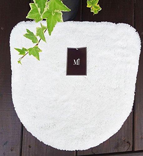 M+home エスタルトシャギー トイレ洗浄ふたカバー ホワイト