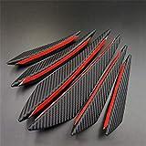 PiLiHuo 6 unids/Set Frontal Parachoques Splitter Splitter Splitter Air Colly Kit Auto Fibra de Carbono Coche Negro Spoiler Styling Decoration Accesorios (Color : Carbon Fiber)