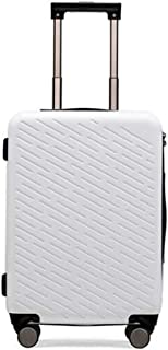 Luggage, PC Material Twill Trolley, Black, 21 Inches Travel Equipment (Color : White)