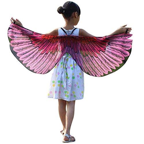 Kinder Chiffon Schmetterling Flügel Schal YunYoud länge kind halstücher stoff maxi jungs und kleinkind breite stricken mit winterschal coole seidentücher gestrickter loopschal