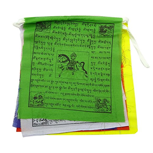 Sharvgun Traditionnelle tibétaine bouddhiste multicolore Prayer Flags Polyester 1 Flag Rouleau