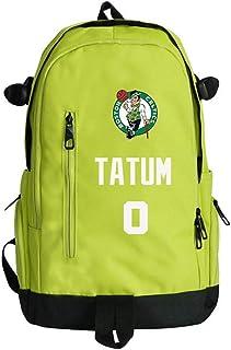 Baloncesto Deportes Mochila Boston Celtics # 0 Jayson Tatum Los Aficionados De Baloncesto Poliéster Mochila Al Aire Libre Baloncesto Mochila Los Hombres Y Las Mujeres Del Estudiante,Verde