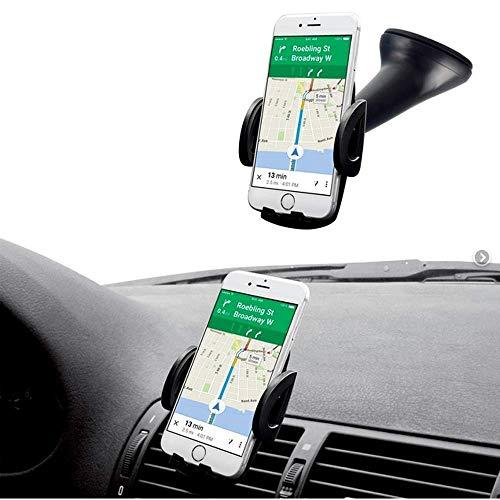 Générique omuvit Support Voiture Grille/Pare Brise/Tableau de Bord Universel Noir Apple Iphone 8 Plus