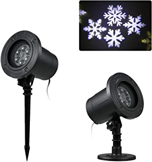 Honelife AC220V 6W 4LED Snow Flake Projector Projection Light Lawn Landscape Lamp Lighting Fixture Supported Auto-run Work...