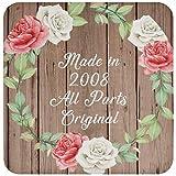 13th Birthday Made In 2008 All Parts Original - Drink Coaster B Posavasos para Bebidas, de Corcho - Regalo para Cumpleaños, Aniversario, Día de Navidad o Día de Acción de Gracias