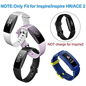 [2 Pack] Charger Cable for Fitbit Inspire HR, for Fitbit Inspire and for Fitbit Ace 2 Smartwatch, Replacement USB Charging Cord Accessories for Fitbit Inspire HR/for Fitbit Inspire (3.3 ft)