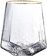 MeiZi Wijnglazen Goblet Champagne Glas Diamond-vormige Gehamerde Gouden Cup Nordic Crystal Drinkglazen Drinkwaren (Color :...