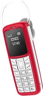 Baosity Unlocked GSM Cell Phone Wireless Blueteeth Earphone Support SIM TF Card - red