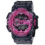 G-Shock メンズ G-SHOCK アナログデジタル腕時計 (ワンサイズ、ブラック/ピンク)