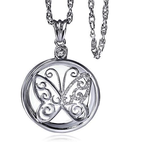 LX&OOSM Collar lupa portátil, temperamento floral colgante Rhinestone suéter cadena para libros, periódicos, mapas, monedas, joyas, artesanías