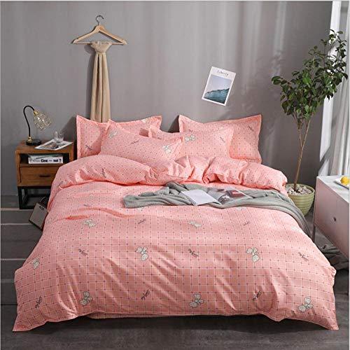 IRCATH 155% katoen - driedelige beddengoedset 4-delig pak van aloë katoenen laken-1,5 m (5 voet) bedgarnituur met vier bedden