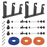 Fotoconic 3 Roller Wall Mounting Manual Background Support System, Including Two(2) Tri-fold Hooks, Six(6) Expand Bars, Three(3) Chains