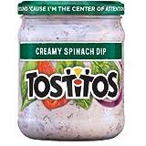 Tostitos, Creamy Spinach Dip, 15oz Glass Jar (Pack of 3)...