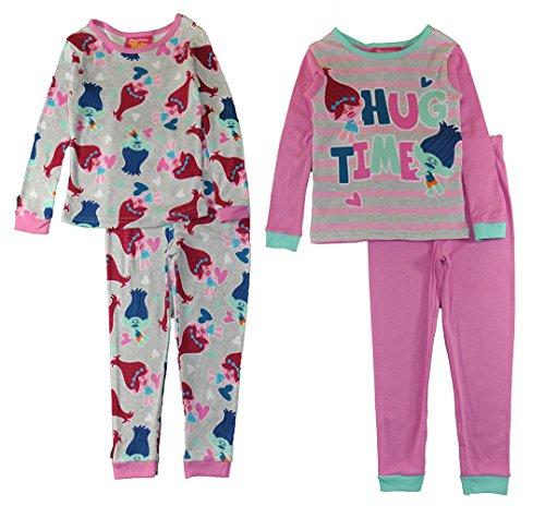 Trolls Big Girls 4 pc Pajama Set Poppy & Branch Hug Time (10)