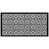 douceur d'intérieur tapis rectangle 50x100 cm vinyle vittoria noir