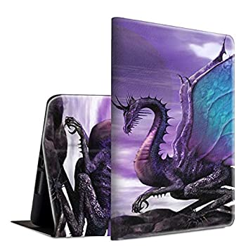 Case for All-New Kindle Fire 7  9th/7th Generation,2019/2017 Release ,Spsun Lightweight Smart Shell PU Leather Adjustable Stand Protective Cover with Auto Wake/Sleep Feature - Purple Dragon