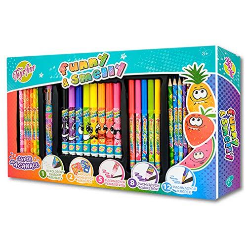 Un gran juego para colorear lápices perfumados Stnux.