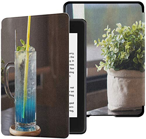 wasserfeste Stoffhülle für Kindle Paperwhite (10. Generation, Release 2018), blau gefrorenes Hawaii-Limonade-Tablet-Etui aus Glas