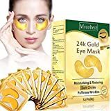 Eye Mask Collagen, Masque Yeux, Under Eye Mask, Masque pour Les Yeux, 24k gold eye mask, pour Éclairage Cercles sombres et Cernes Réduire Coussinets Gel Rides & Puffiness