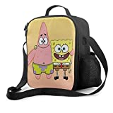 Lunch Bag Insulated Lunch Box Spongebob Squarepants Tote Bag Cooler Bag Meal Prep Containers For Women Men Adults