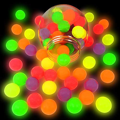 German Trendseller® 6 x Nachtleuchtende - Neon Flummi - Springbälle ┃ Mitgebsel ┃ Kindergeburtstag ┃ Extra Weich - Super Sprung - Kraft ┃ 6 Flummis
