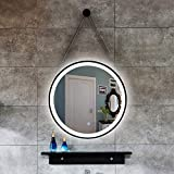 espejo Luz Blanca/luz cálida Cuerda Colgante Hierro Redondo Arte lámpara LED vanidad Colgante de Pared baño Inteligente lámpara de baño 50 cm, 60 cm, 70 cm, 80 cm