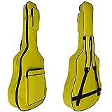MINGZE 41' Funda para guitarra, bolsas de guitarra, bandolera ajustable a prueba de agua, variedad de colores (Amarillo)