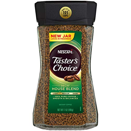 Nescafe Taster's Choice Instant Decaf Coffee, 7-Ounce Canisters (Pack of 3)