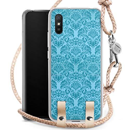 DeinDesign Carry Case kompatibel mit Xiaomi Redmi 9A Hülle mit Kordel aus Leder Handykette zum...