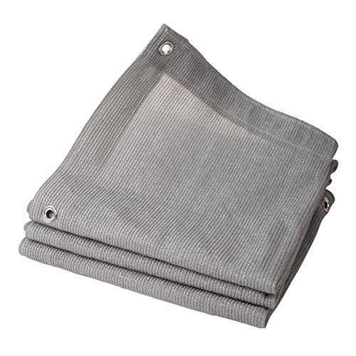 GWZSX Grau Schattiernetz UV-Schutz Verschlüsselung Schattennetz Mit Ösen Umwickelte Kante Sonnenschutznetz für Carport Roof Balkonabdeckung-6x6ft-2x2m Grau