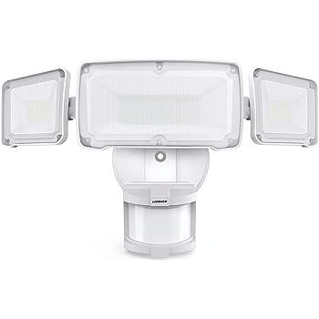 LEPOWER 35W LED Security Lights Motion Sensor Light Outdoor, 3500LM Motion Security Light, 5500K, IP65 Waterproof, 3 Head Motion Detected Flood Light for Garage, Yard, Entryways (NOT Solar Powered)