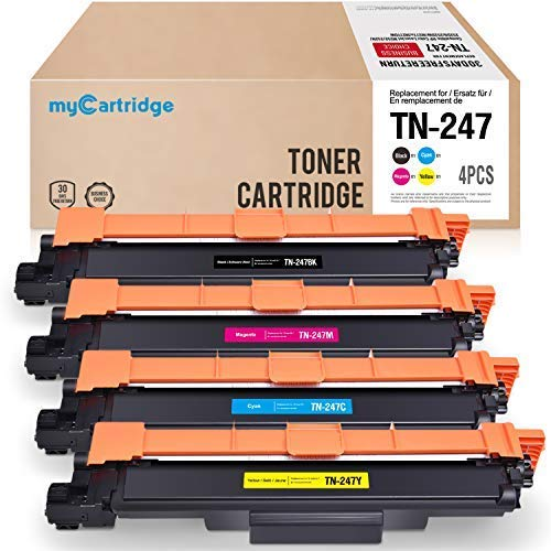 MyCartridge 4 Kompatibel Brother TN-247BK TN-247C TN-247M TN-247Y Toner(Ohne Chip) für Brother HL-L3210CW MFC-L3710CW MFC-L3750CDW MFC-L3770CDW DCP-L3510CDW DCP-L3550CDW (Schwarz/Cyan/Magenta/Gelb)