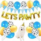 Decoraciones para fiestas de cumpleaños de perros y gatos, pancarta de globos de Pawty para niño, perros, gatos, suministros para fiestas de cumpleaños