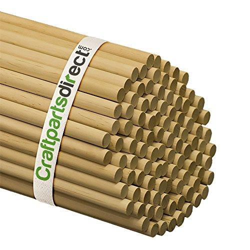 Wooden Dowel Rods - 1/2' x 36' Unfinished Hardwood Sticks - for...