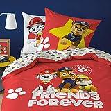 Pat Patrol - Juego de cama infantil 100% algodón, funda nórdica de 140 x 200 cm y funda de almohada de 63 x 63 cm, diseño de Marcus, Ruben, Chase