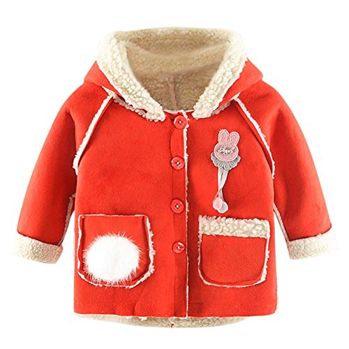 HWTOP Kinderkleidung HWTOP Kinderkleidung Mädchen Mini Jacke in Daunenoptik/Winterjacke mit Kapuze