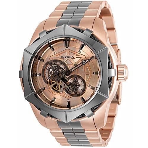 Invicta Bolt reloj automático de los hombres con esfera de oro rosa 34709