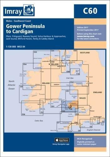 Imray Chart C60: Gower Peninsula to Cardigan (C Series)