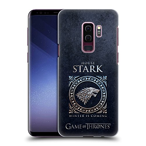 Head Case Designs Officially Licensed HBO Game of Thrones Stark Metallic Sigils Hard Back Case Compatible with Samsung Galaxy S9+ / S9 Plus