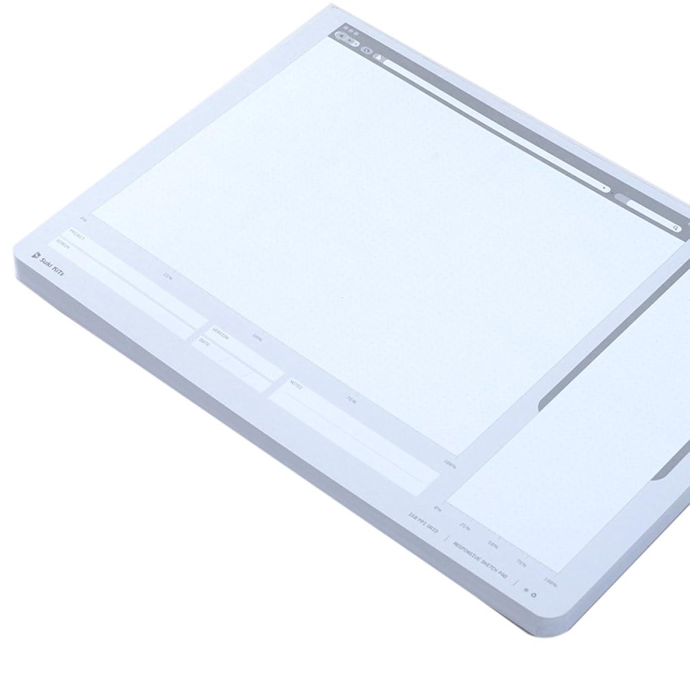 Loghot Creative Draft Drawing UI Design Responsive Sketch Pad for App Design Template
