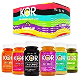 KOR Shots Variety Shot Pack - 12 Pack x 1.7 Fl Oz - Rainbow Pack - Fresh, Nutrient Rich Juice Shots - USDA Certified Organic