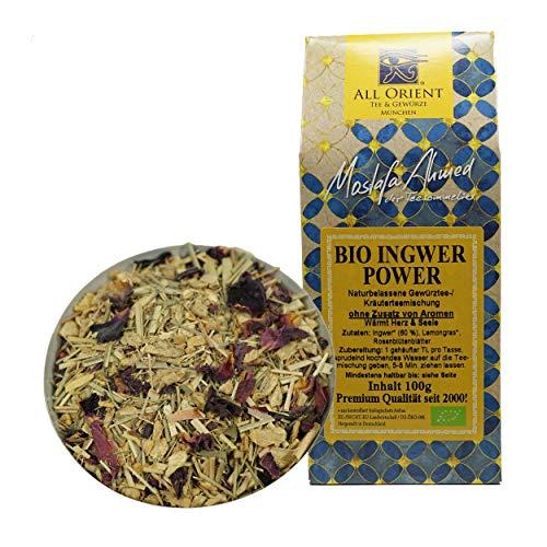 All Orient BIO Ingwer-Power | 100g | Ingwer Zitronen Tee | loser Tee | basisch | Gewürztee | ohne Zusatz von Aromen | ohne Teein | BIO-Qualität | naturbelassen | leicht...