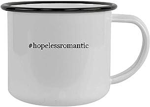 #hopelessromantic - 12oz Hashtag Camping Mug Stainless Steel, Black
