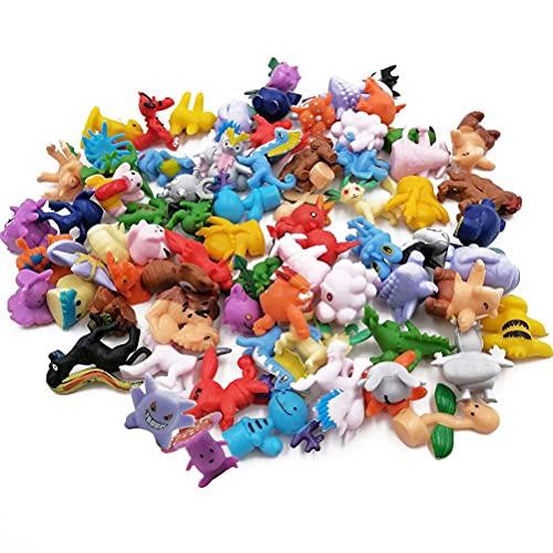 MiotlsyPocket Monster Pearl Minifiguren 2 - 3 cm groß komplett-Set Mini Action Figuren für Kinder und Erwachsene (72 Stück)