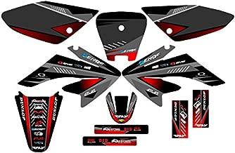 Senge Graphics Kit Compatible with Honda 2004-2010 CRF 80/100 Surge Black Graphics kit